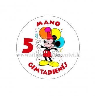 """Ženkliukas """"Mano gimtadienis"""" Peliukas Mikis 5m."""