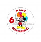 """Ženkliukas """"Mano gimtadienis"""" Peliukas Mikis 6m."""