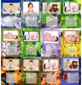 2018 metų pakabinamas 13 lapų fotokalendorius