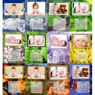 Pakabinamas 13 lapų fotokalendorius