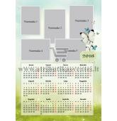 Pakabinamas 1 lapo fotokalendorius