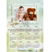 Pakabinamas vieno lapo fotokalendorius