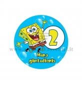"""Ženkliukas """"Mano gimtadienis"""" Kempiniukas Plačiakelnis 2m."""