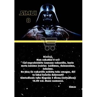 "Kvietimai ""Star wars"""