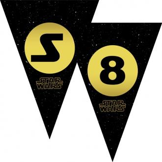 """Popierinė vėliavėlių girlianda """"Star wars"""""""