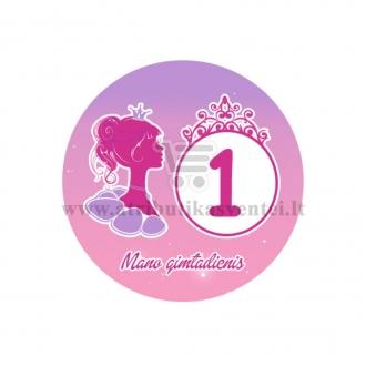 """Ženkliukas """"Mano gimtadienis"""" Princesės puota 1m."""