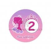 """Ženkliukas """"Mano gimtadienis"""" Princesės puota 2m."""