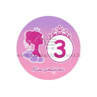 """Ženkliukas """"Mano gimtadienis"""" Princesės puota 3m."""