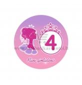"""Ženkliukas """"Mano gimtadienis"""" Princesės puota 4m."""