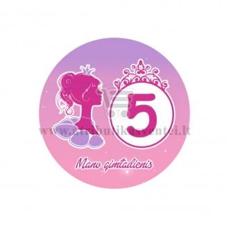 """Ženkliukas """"Mano gimtadienis"""" Princesės puota 5m."""