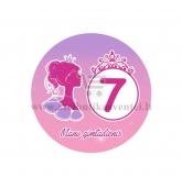 """Ženkliukas """"Mano gimtadienis"""" Princesės puota 7m."""