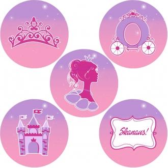"""Lipdukai """"Princesės puota"""" - 10 vnt"""