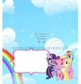 """Stalo kortelė """"Mano mažasis ponis"""""""
