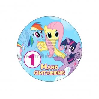 """Ženkliukas """"Mano gimtadienis"""" Mano mažasis ponis 1m."""