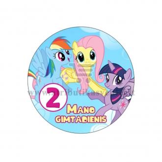 """Ženkliukas """"Mano gimtadienis"""" Mano mažasis ponis 2m."""