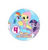 """Ženkliukas """"Mano gimtadienis"""" Mano mažasis ponis 4m."""