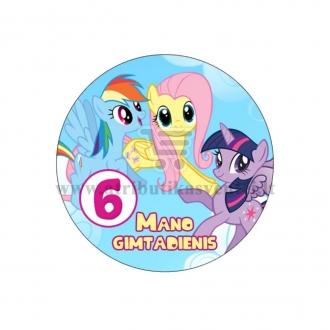 """Ženkliukas """"Mano gimtadienis"""" Mano mažasis ponis 6m."""