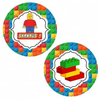 "Apvalūs lipdukai ""Lego"" - 10 vnt"