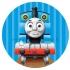 """Apvalūs lipdukai """"Traukinukas Tomas"""" - 10 vnt"""