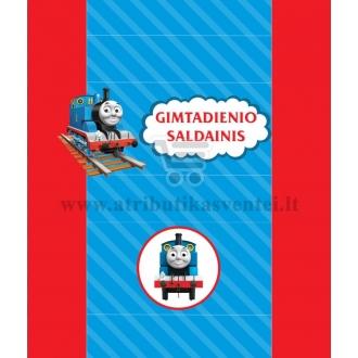 """Saldainių popieriukai 15 vnt """"Traukinukas Tomas"""""""