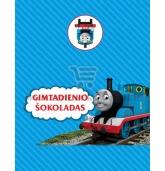 """Šokolado popieriukas """"Traukinukas Tomas"""""""