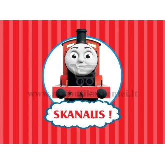 """Etiketė """"Traukinukas Tomas"""""""
