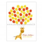 """Svečių paveikslas """"Žirafa"""", 30x40cm formatas"""
