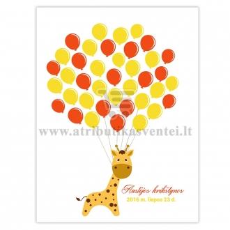 """Svečių paveikslas """"Žirafa"""", A4 formatas"""