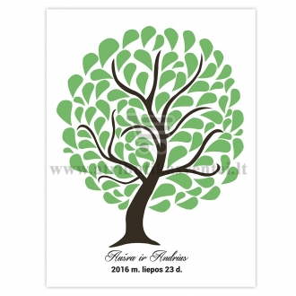 Palinkėjimų medis, 30x40cm formatas