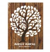 Palinkėjimų medis, A4 formatas