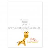 """Svečių paveikslas """"Žirafa"""" 30x40 cm formatas"""