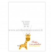 """Svečių paveikslas """"Žirafa"""" A4 formatas"""