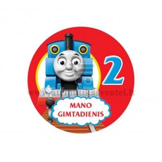 """Ženkliukas """"Mano gimtadienis"""" Traukinukas Tomas 2m."""