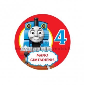 """Ženkliukas """"Mano gimtadienis"""" Traukinukas Tomas 4m."""