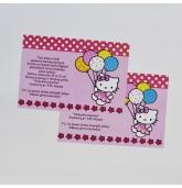 """Kvietimai """"Hello Kitty""""-10 vnt"""