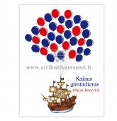 """Svečių paveikslas """"Piratų laivas"""", 30x40cm formatas"""
