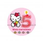 """Ženkliukas """"Mano gimtadienis"""" Hello Kitty 5m."""