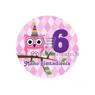 """Ženkliukas """"Mano gimtadienis"""" Pelėdžiukai 6m."""