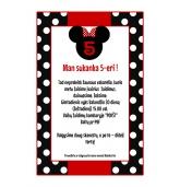 """Kvietimai į vaiko gimtadienį """"Minnie Mouse""""-10 vnt"""