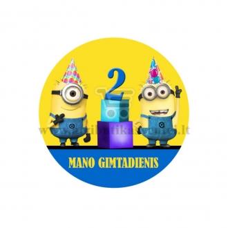 """Ženkliukas """"Mano gimtadienis"""" Minions 2m."""