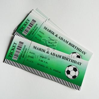 """Kvietimas-bilietas """"Futbolas"""""""