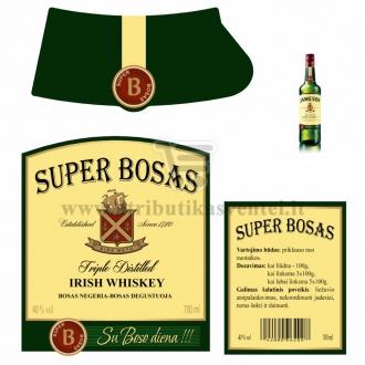 "Etiketė Jameson viskio buteliui ""Super Bosas"""