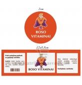 """Etiketė """"Boso vitaminai"""" (oranžinė)"""