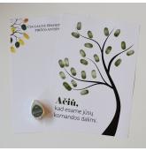 Pirštų antspaudų darbuotojų medis (1 dažų pagalvėlė)