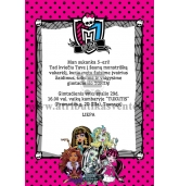 "Kvietimai ""Monster High"""