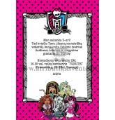 """Kvietimai """"Monster High"""""""