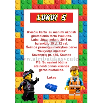 "Kvietimai ""Lego"""