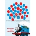 """Svečių paveikslas """"Traukinukas Tomas"""", 30x40cm formatas"""