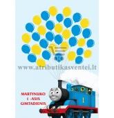 """Svečių paveikslas """"Traukinukas Tomas"""", A4 formatas"""