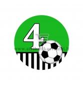 Gimtadienio ženkliukas - Futbolas 4m.
